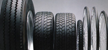 Calcium carbonates are used in various rubber products including tires